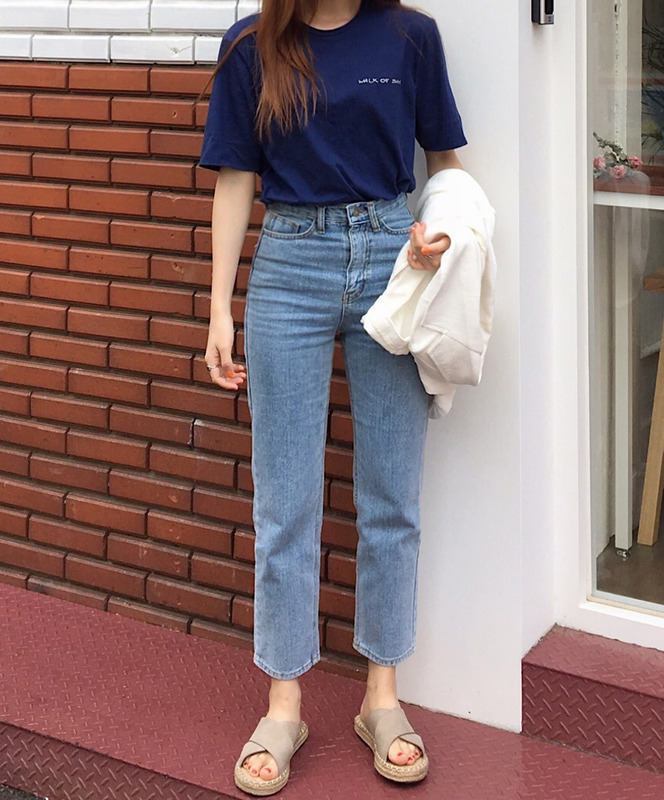 casual high waist denim jeans / 리오더중