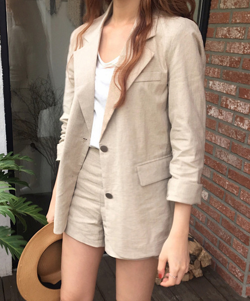 linen pocket jacket set / 주문폭주 (2~3일 소요)